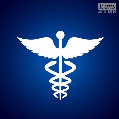 Caduceus Medical Icon. 向量圖像