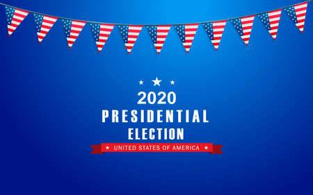 Vector background for US presidential election 2020