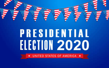 Vector background for US presidential election 2020 Иллюстрация