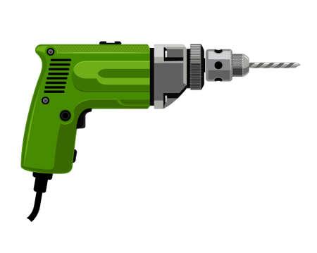Vector illustration of Drilling machine.
