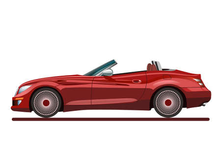 Red beautiful sport car Vector