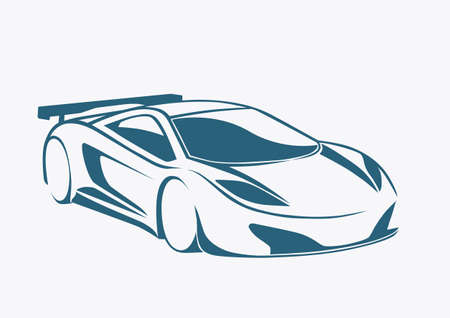Racing auto logo and speed Vector