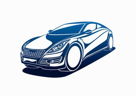 rent a car: Big automobile Illustration