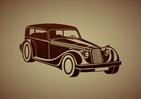 old mark: Sport classic automobile Illustration