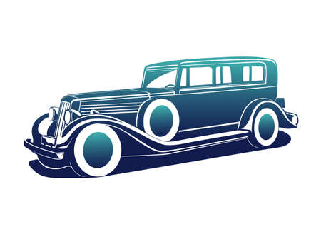 Classic automobile Illustration