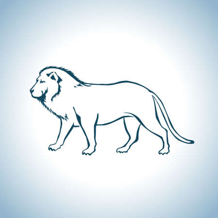 unhappy family: Lion Illustration