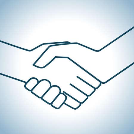 Handshake graphic Vector