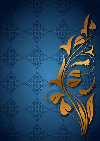 islamic art: Ornamental blue background Illustration