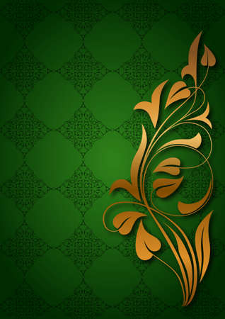 Ornamental green background Stock Vector - 19142076