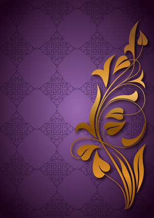 Ornamental purple background Vector