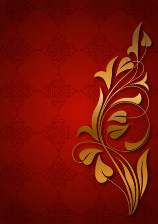 Ornamental red background Stock Vector - 19142078