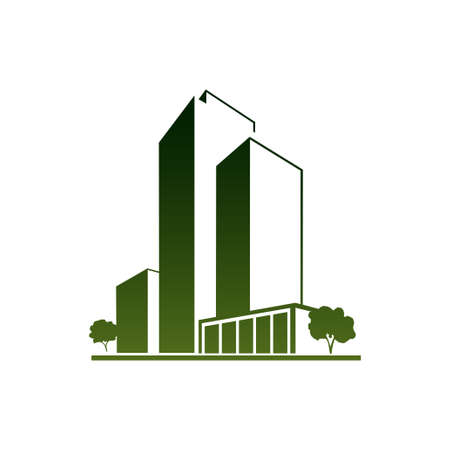 Green apartments Vector