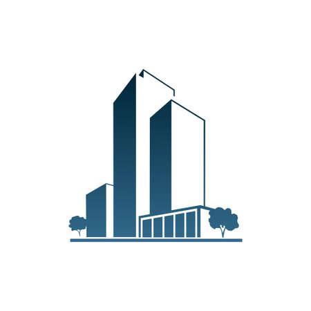 housing estates: Appartamenti blu su bianco