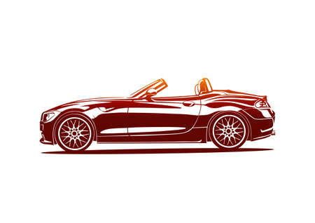 Red hot sport car Illustration