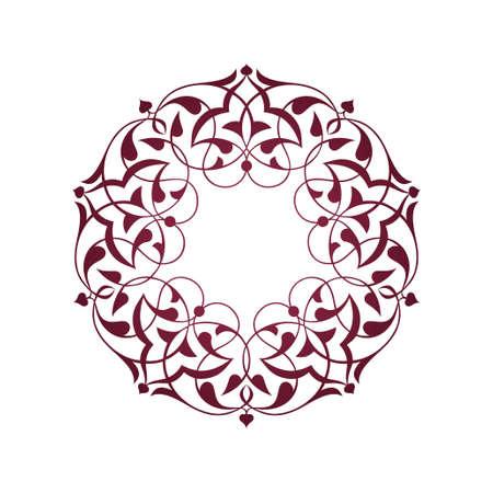 Purple Ottoman patterns over white