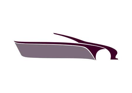 text area: Crimson auto logo and text area Illustration