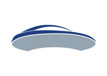 Blue auto logo and board Vector