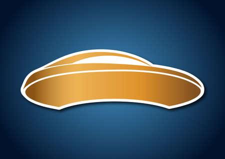 Golden auto logo over blue board Vector