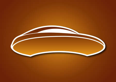 Golden auto logo over caramel board Stock Vector - 20238748