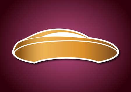 Golden auto logo over pink board Stock Vector - 20238750