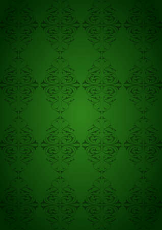 Ottoman Pattern and green background Illustration