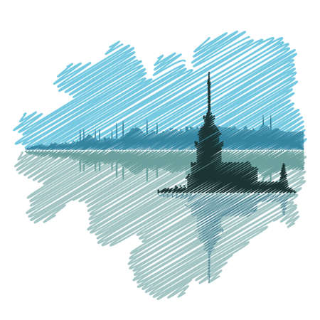 Istanbul drawing Ilustrace