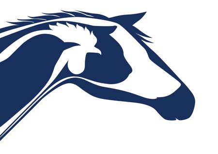logo medicina: Logotipo veterinario Azul Vectores