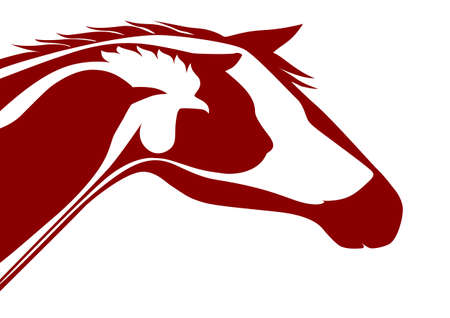 Red veterinary logo