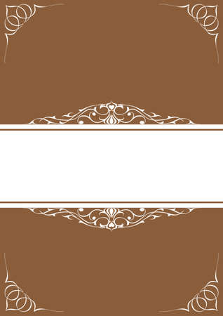 White little frames over brown background Vector