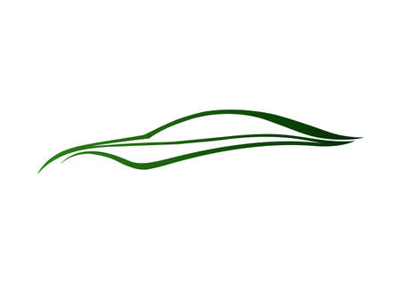 Green auto logo  Vector