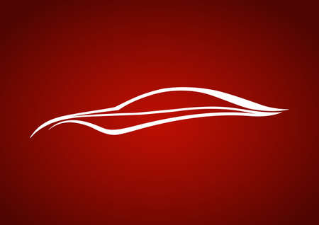 speedy: White speedy auto over red