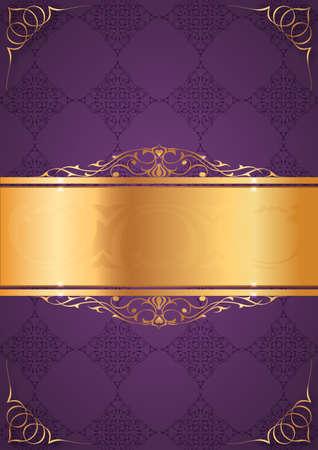 Little frames on purple background Illustration