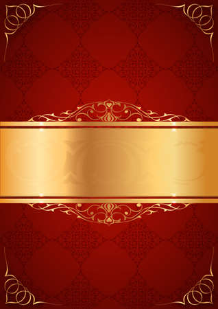 Little frames on red background Vector