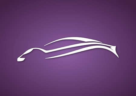 Logo of sport auto over purple Vector