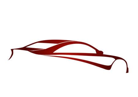Super Sport auto czerwony
