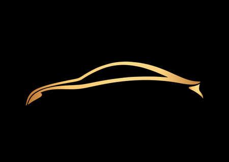 Logo van de auto over zwarte