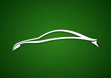 Logo of automobile over green Vector