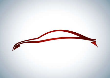 Red logo of automobile