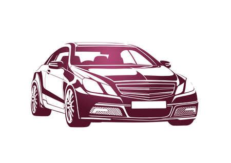 rent a car: Pink automobile