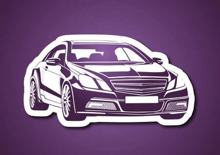 Automobile over purple Vector