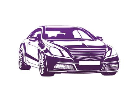Purple automobile Ilustrace