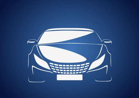 Auto in blue Vector