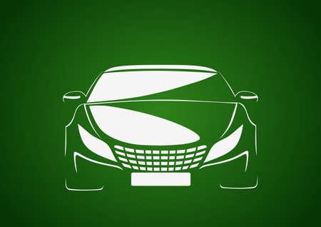 Auto in green Vector