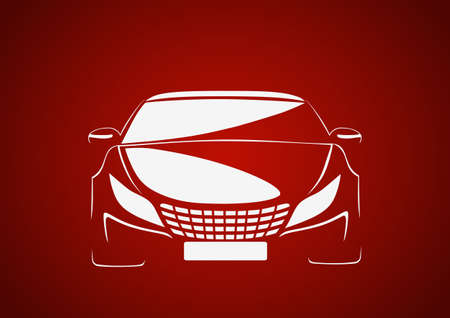 Auto in red Stock Vector - 22385459