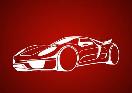 repair shop: White super auto over red