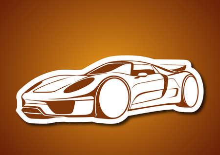 repair shop: Super sport auto over caramel