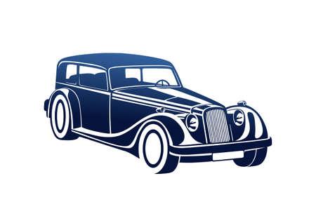 Blue sport classic automobile
