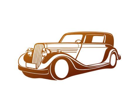 Golden classic car.