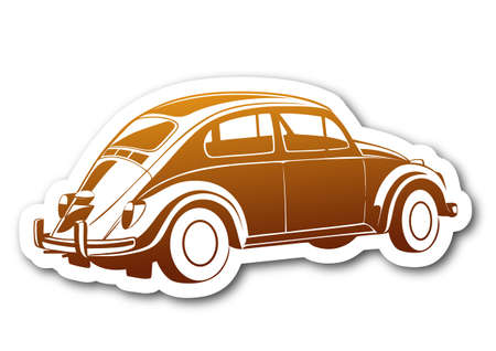 Coche marrón auto viejo dulce de oro.