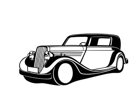 Black classic Car Illustration